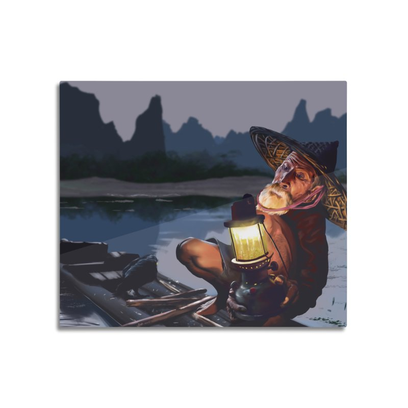 Fisher Home Mounted Aluminum Print by ibeenthere's Artist Shop