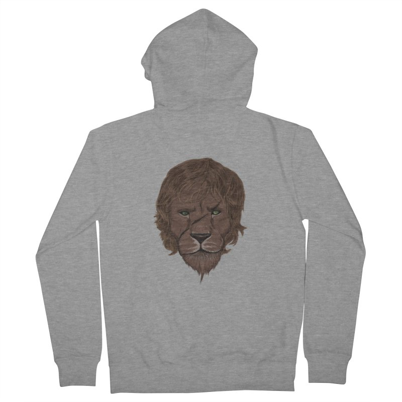 Scarred Lion Men's Zip-Up Hoody by ibeenthere's Artist Shop