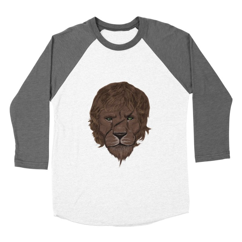 Scarred Lion Men's Baseball Triblend T-Shirt by ibeenthere's Artist Shop