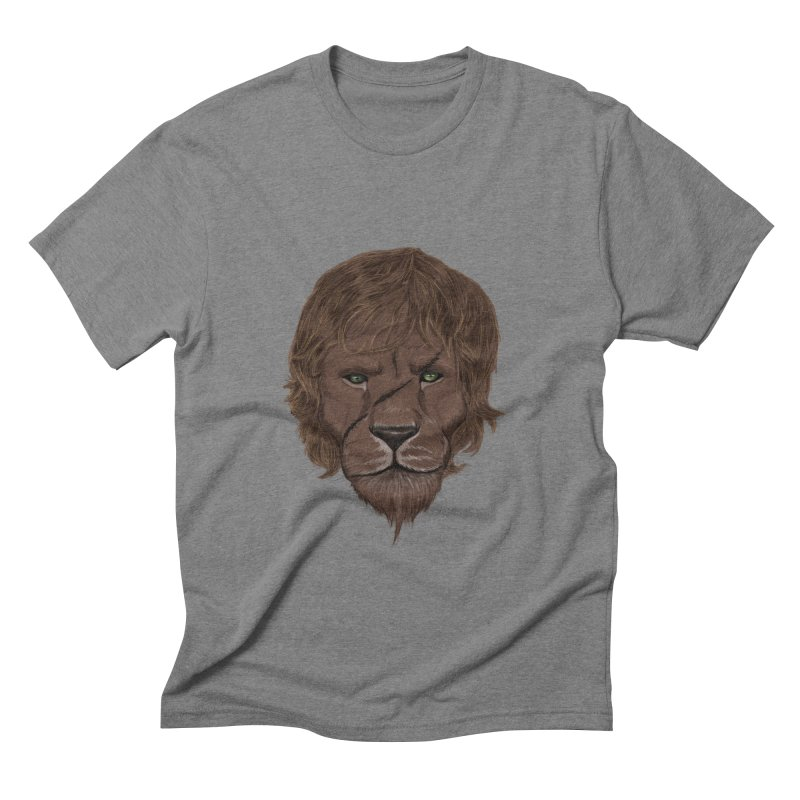 Scarred Lion Men's Triblend T-shirt by ibeenthere's Artist Shop