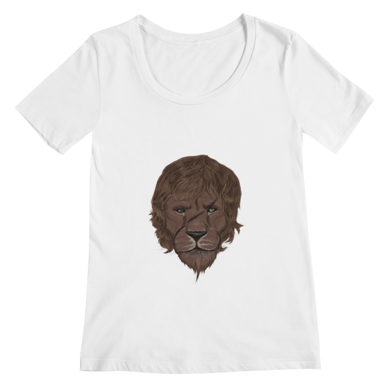 Scarred Lion Women's Scoopneck by ibeenthere's Artist Shop