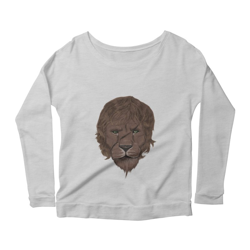Scarred Lion Women's Longsleeve Scoopneck  by ibeenthere's Artist Shop