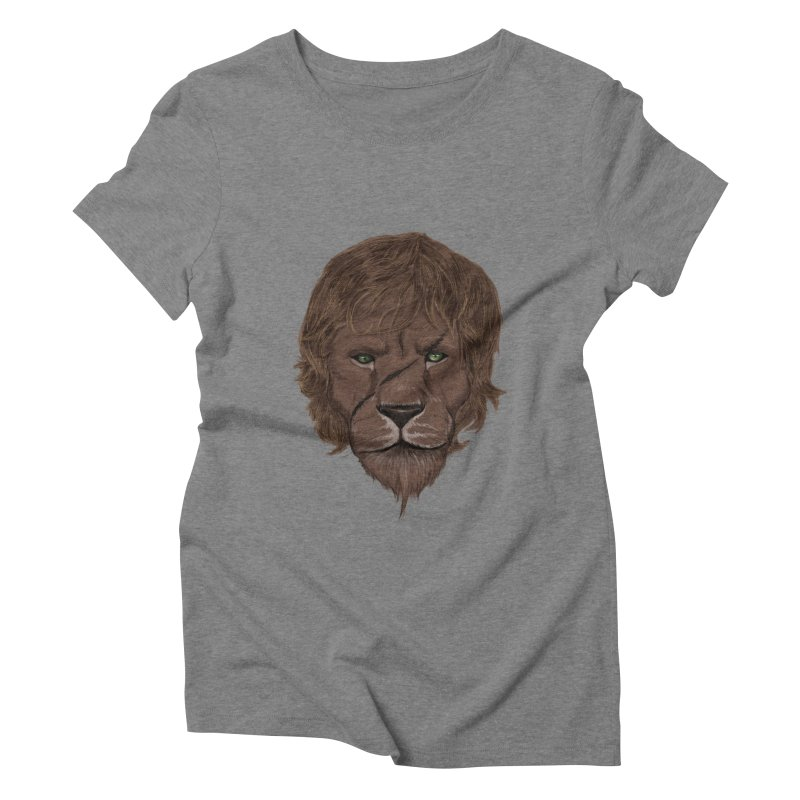 Scarred Lion Women's Triblend T-shirt by ibeenthere's Artist Shop