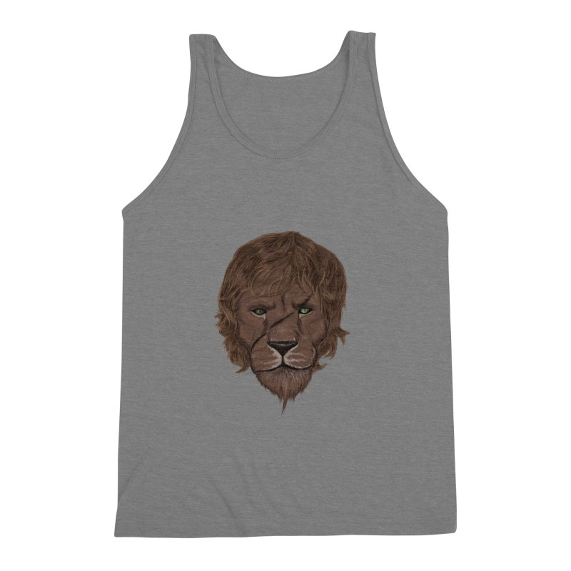 Scarred Lion Men's Triblend Tank by ibeenthere's Artist Shop
