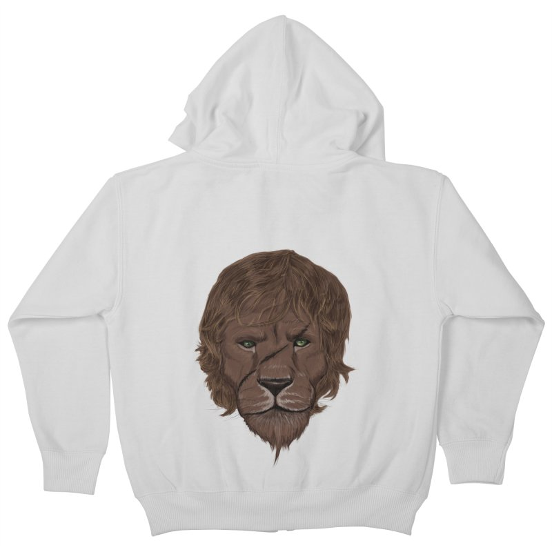 Scarred Lion Kids Zip-Up Hoody by ibeenthere's Artist Shop