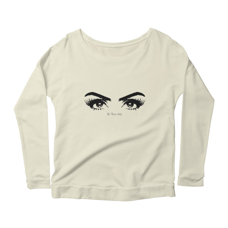 Brows & Lashes Women's Scoop Neck Longsleeve T-Shirt by Threaded by The iBrow Lady