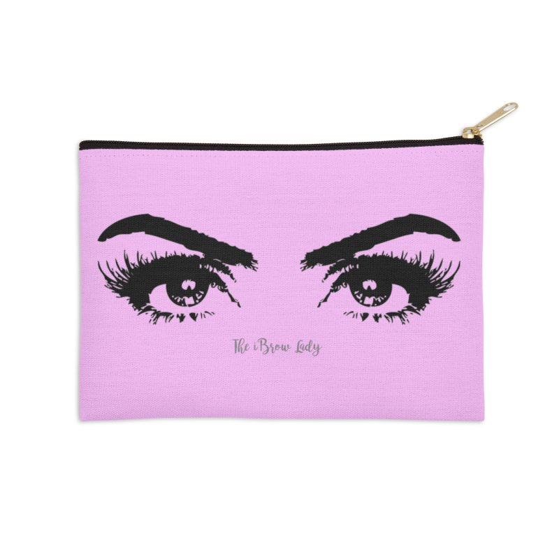 Brows & Lashes Accessories Zip Pouch by Threaded by The iBrow Lady