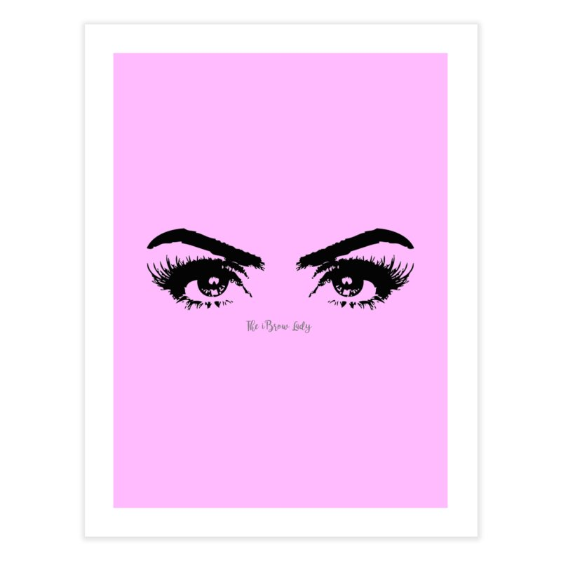 Brows & Lashes Home Fine Art Print by Threaded by The iBrow Lady