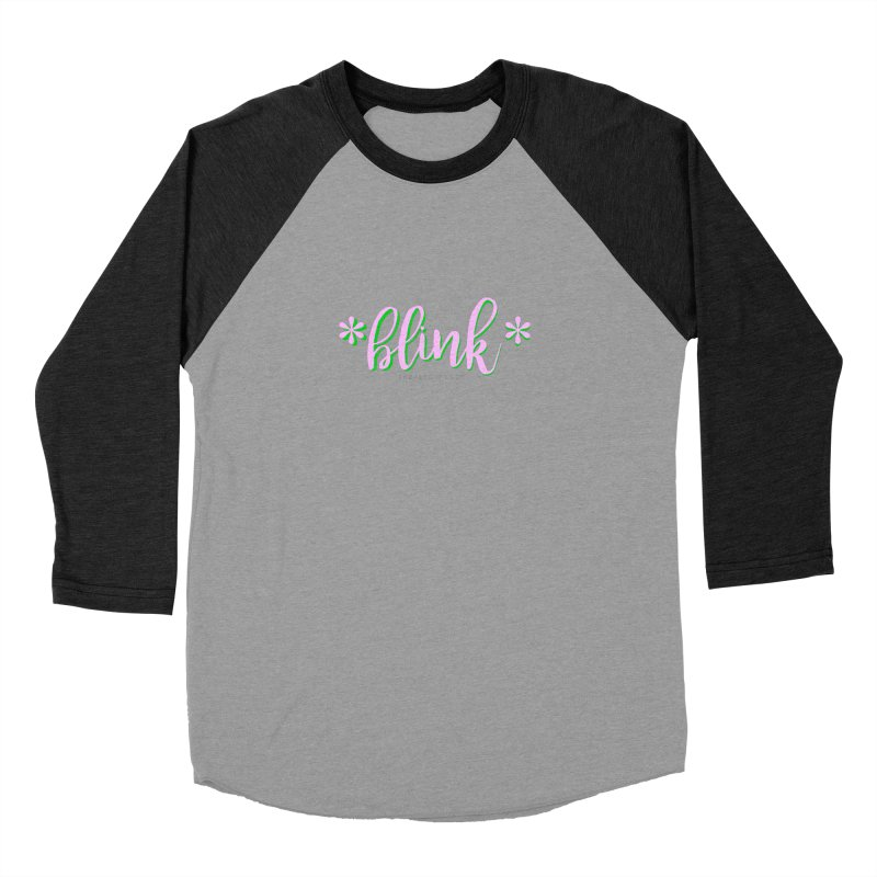 *Blink* Pink & Green Women's Longsleeve T-Shirt by Threaded by The iBrow Lady