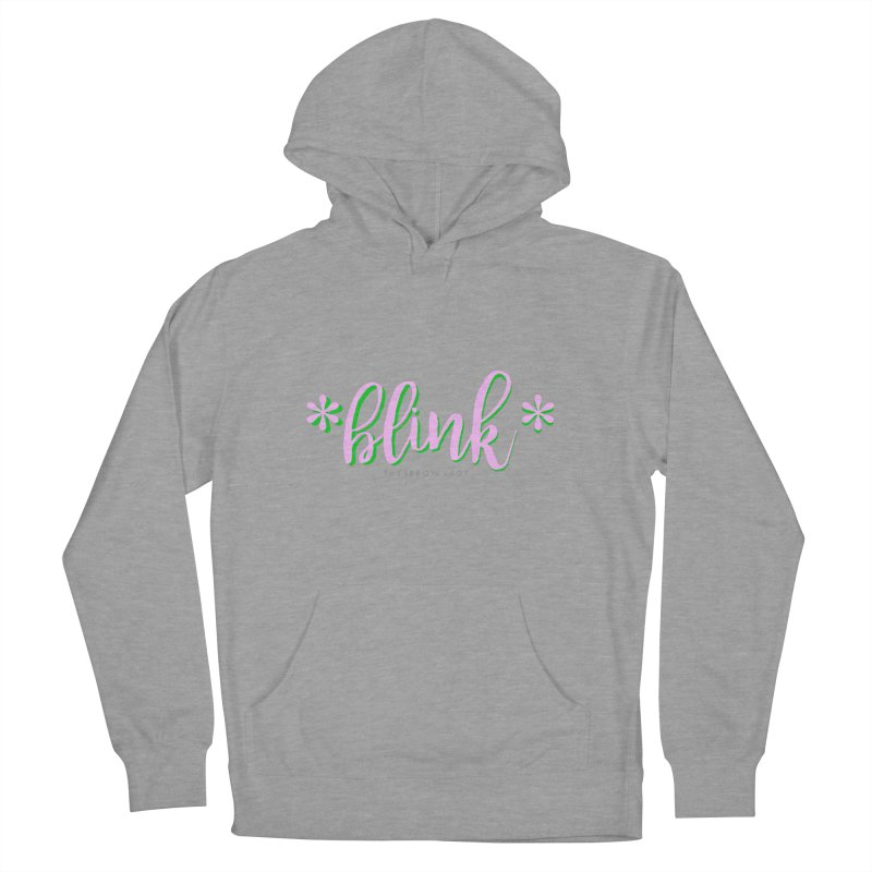 *Blink* Pink & Green Women's French Terry Pullover Hoody by Threaded by The iBrow Lady