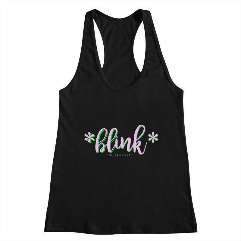 *Blink* Pink & Green Women's Tank by Threaded by The iBrow Lady