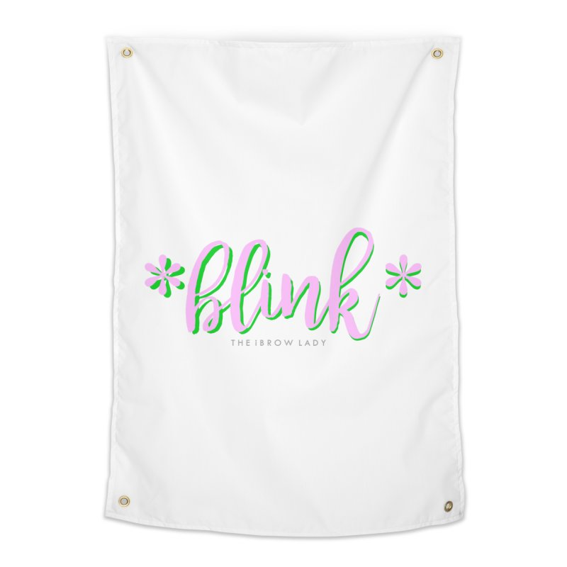 *Blink* Pink & Green Home Tapestry by Threaded by The iBrow Lady
