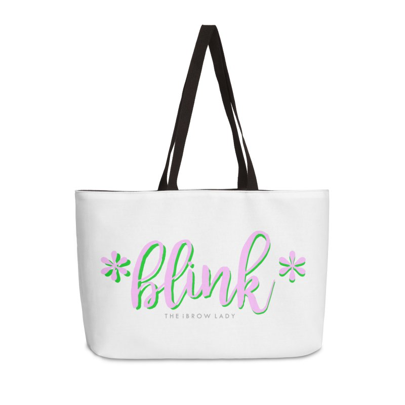 *Blink* Pink & Green Accessories Weekender Bag Bag by Threaded by The iBrow Lady