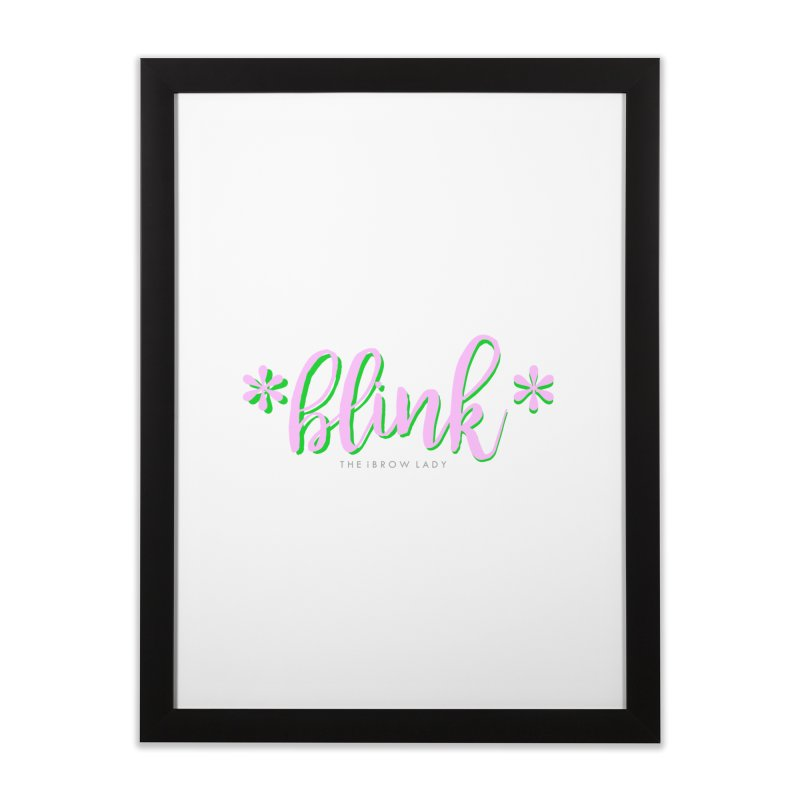 *Blink* Pink & Green Home Framed Fine Art Print by Threaded by The iBrow Lady