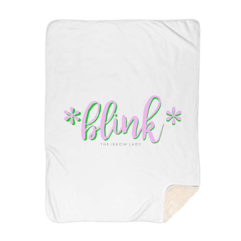 *Blink* Pink & Green Home Blanket by Threaded by The iBrow Lady