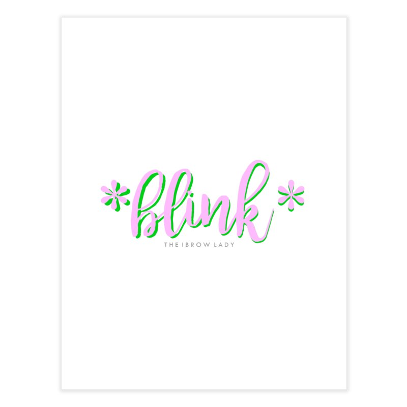 *Blink* Pink & Green Home Fine Art Print by Threaded by The iBrow Lady
