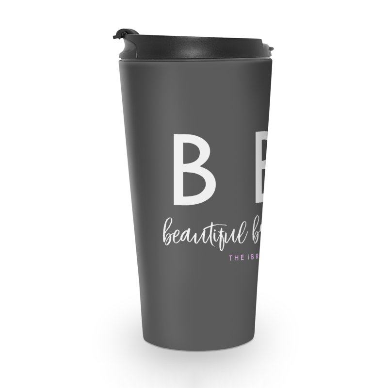 """BBL"" Accessories Travel Mug by Threaded by The iBrow Lady"