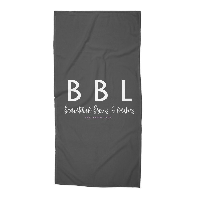 """BBL"" Accessories Beach Towel by Threaded by The iBrow Lady"