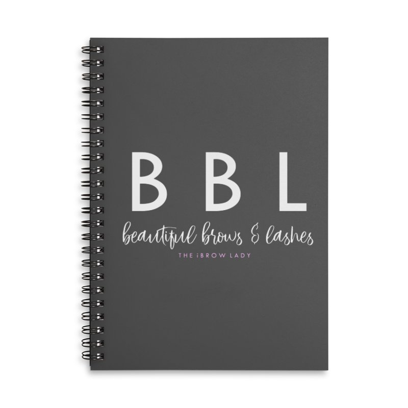 """""""BBL"""" Accessories Lined Spiral Notebook by Threaded by The iBrow Lady"""