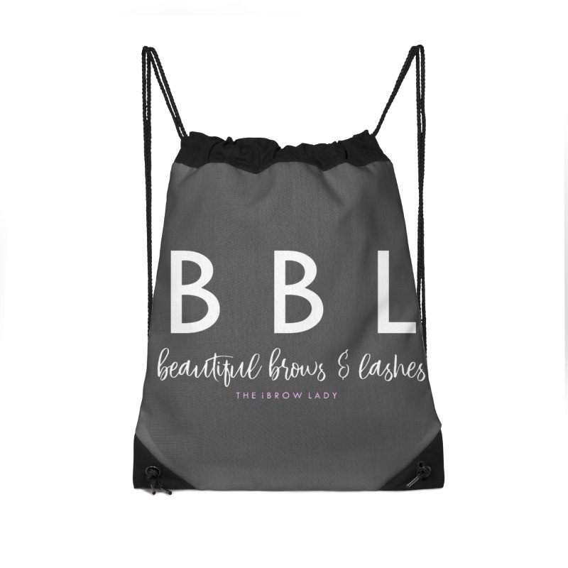 """BBL"" Accessories Drawstring Bag Bag by Threaded by The iBrow Lady"