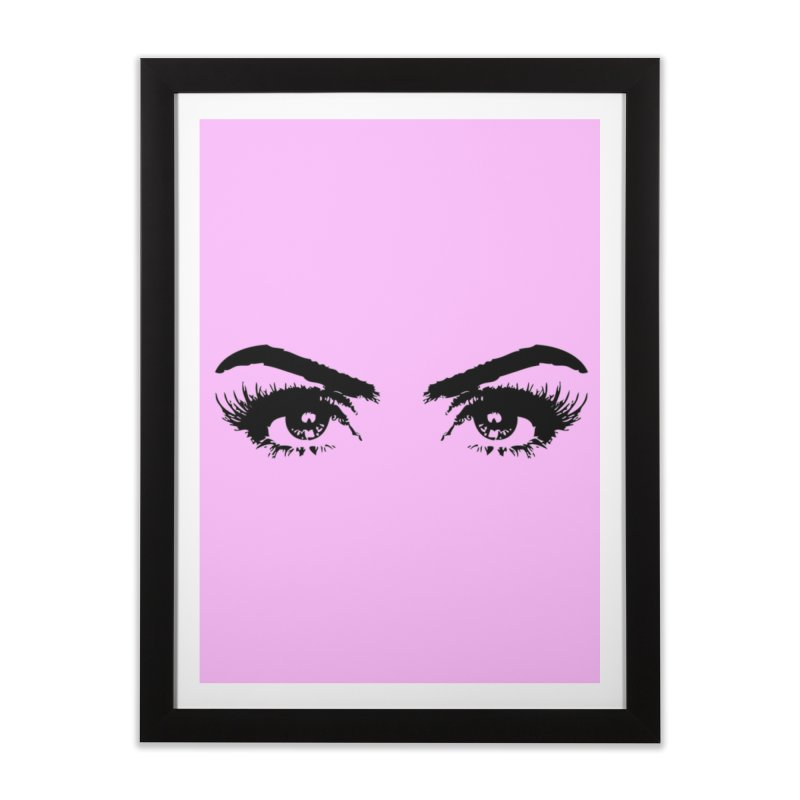 Brows & Lashes Home Framed Fine Art Print by Threaded by The iBrow Lady