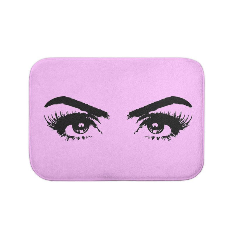 Brows & Lashes Home Bath Mat by Threaded by The iBrow Lady