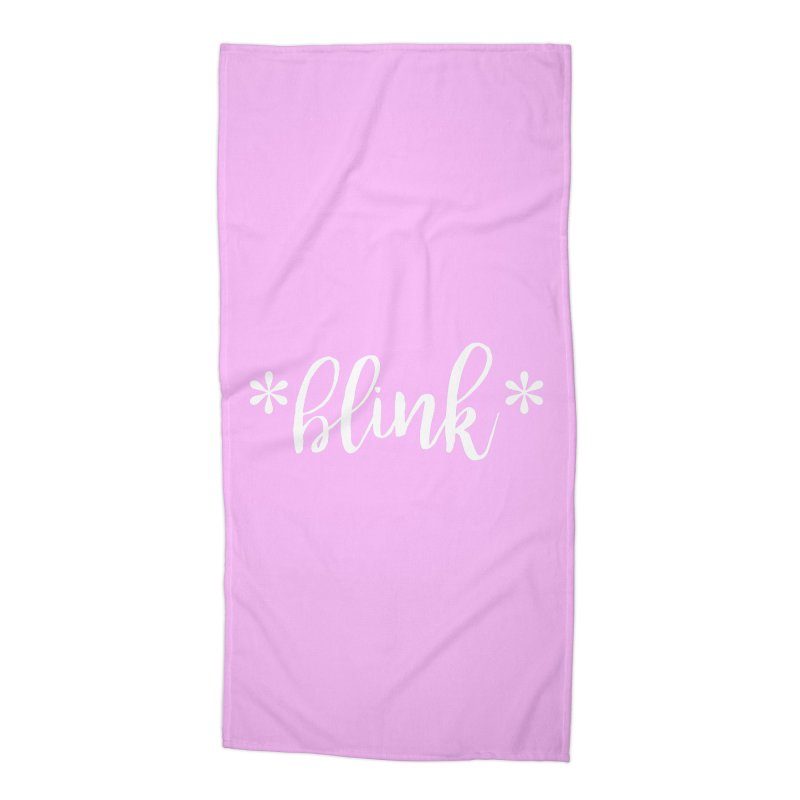 *Blink* Accessories Beach Towel by Threaded by The iBrow Lady