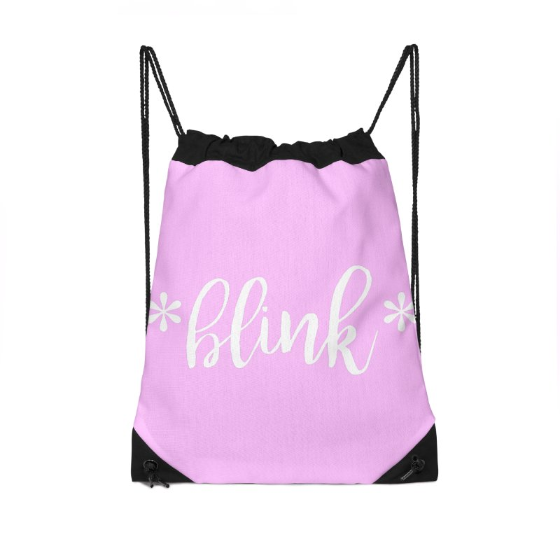 *Blink* Accessories Drawstring Bag Bag by Threaded by The iBrow Lady