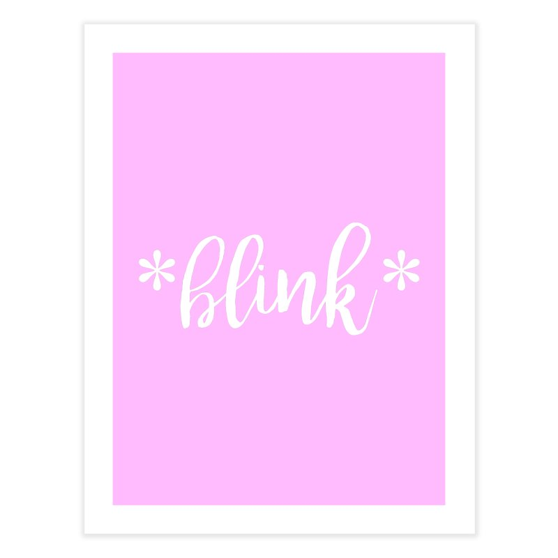 *Blink* Home Fine Art Print by Threaded by The iBrow Lady