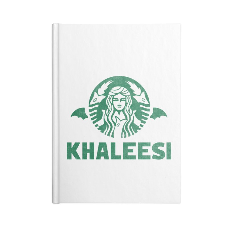 Cup of Khaleesi Accessories Blank Journal Notebook by Ibyes