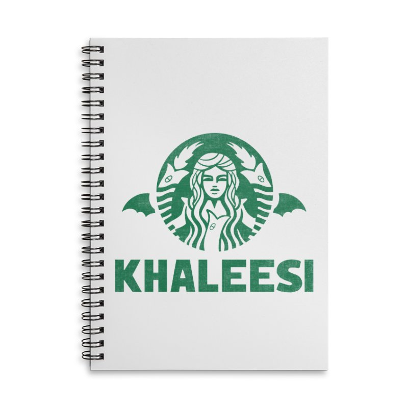 Cup of Khaleesi Accessories Lined Spiral Notebook by Ibyes