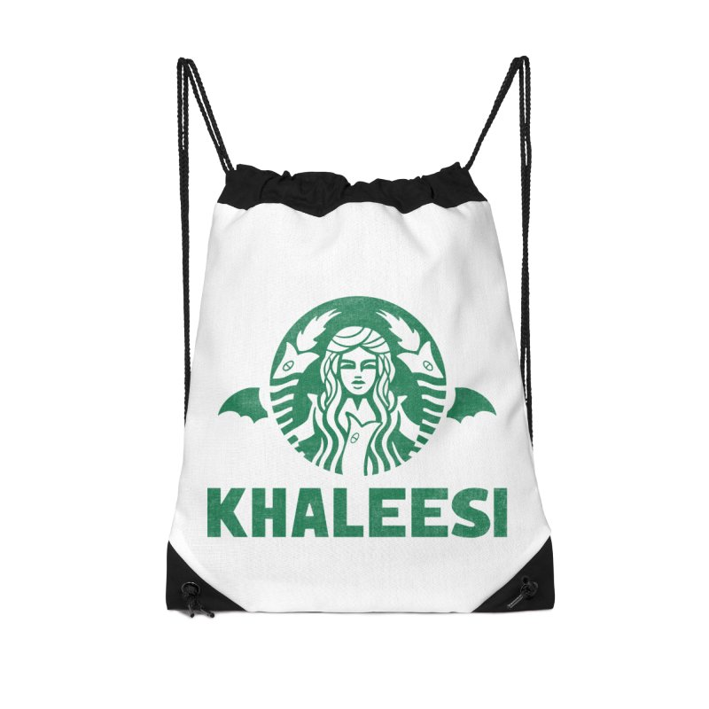 Cup of Khaleesi Accessories Drawstring Bag Bag by Ibyes