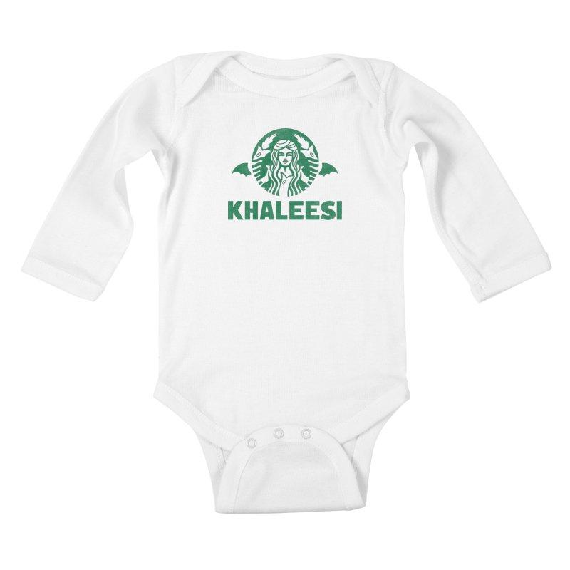 Cup of Khaleesi Kids Baby Longsleeve Bodysuit by Ibyes