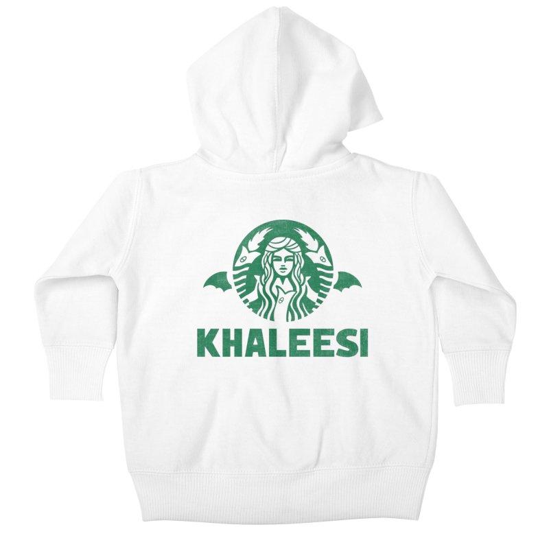 Cup of Khaleesi Kids Baby Zip-Up Hoody by Ibyes
