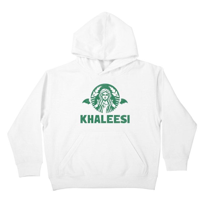 Cup of Khaleesi Kids Pullover Hoody by Ibyes