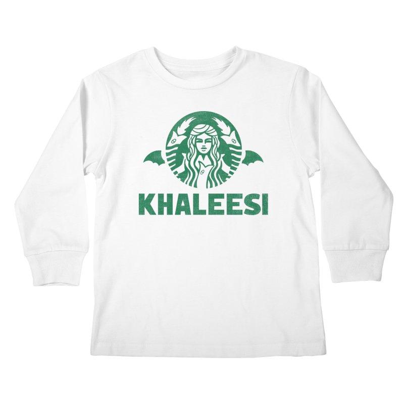 Cup of Khaleesi Kids Longsleeve T-Shirt by Ibyes