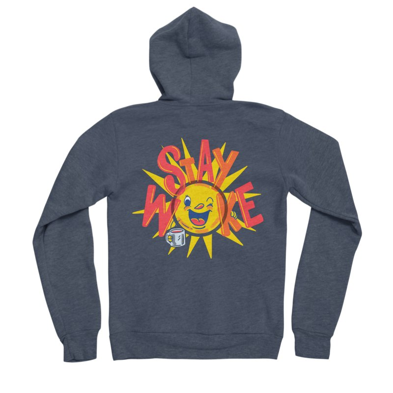 Stay Woke Men's Sponge Fleece Zip-Up Hoody by Ibyes