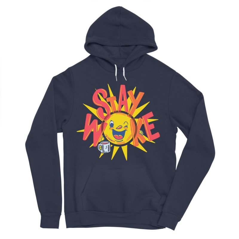 Stay Woke Men's Sponge Fleece Pullover Hoody by Ibyes