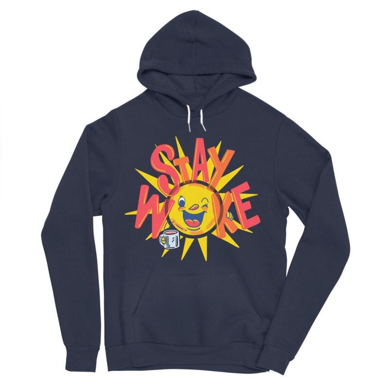 Stay Woke Women's Sponge Fleece Pullover Hoody by Ibyes