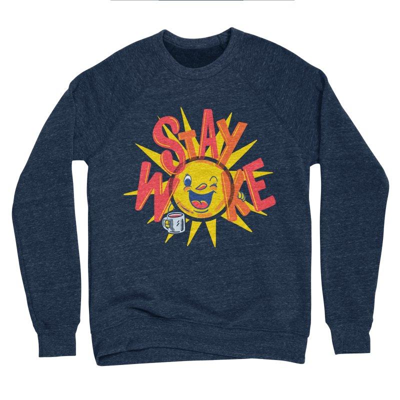 Stay Woke Men's Sponge Fleece Sweatshirt by Ibyes