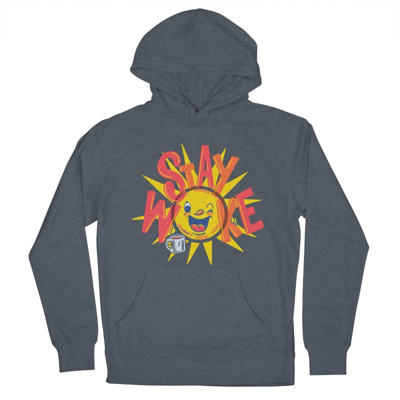 Stay Woke Women's French Terry Pullover Hoody by Ibyes