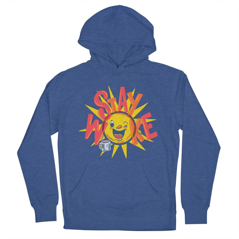 Stay Woke Men's French Terry Pullover Hoody by Ibyes