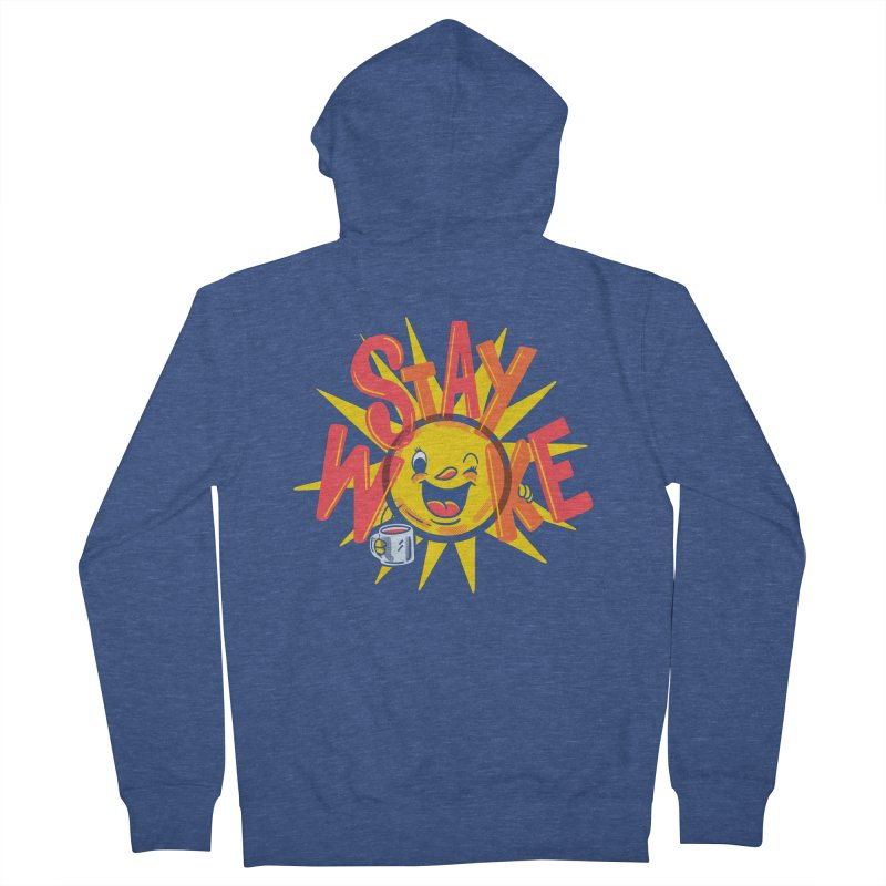 Stay Woke Men's French Terry Zip-Up Hoody by Ibyes