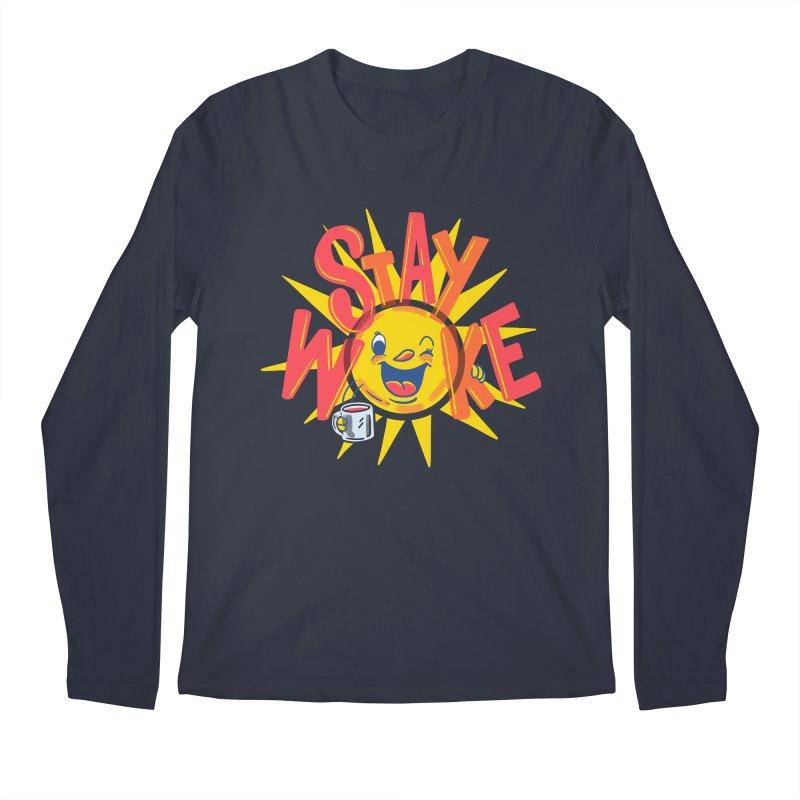 Stay Woke Men's Regular Longsleeve T-Shirt by Ibyes