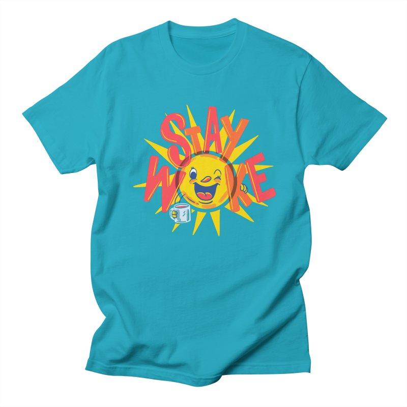 Stay Woke Men's Regular T-Shirt by Ibyes