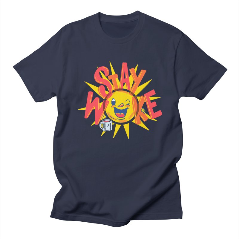 Stay Woke Men's Regular T-Shirt by Ibyes