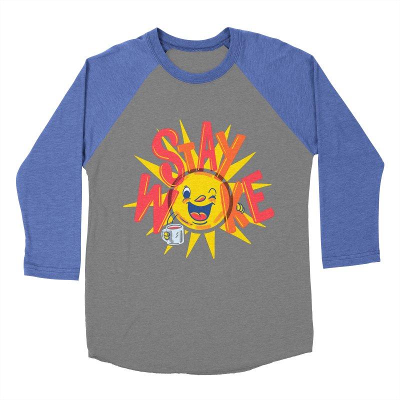 Stay Woke Women's Baseball Triblend Longsleeve T-Shirt by Ibyes