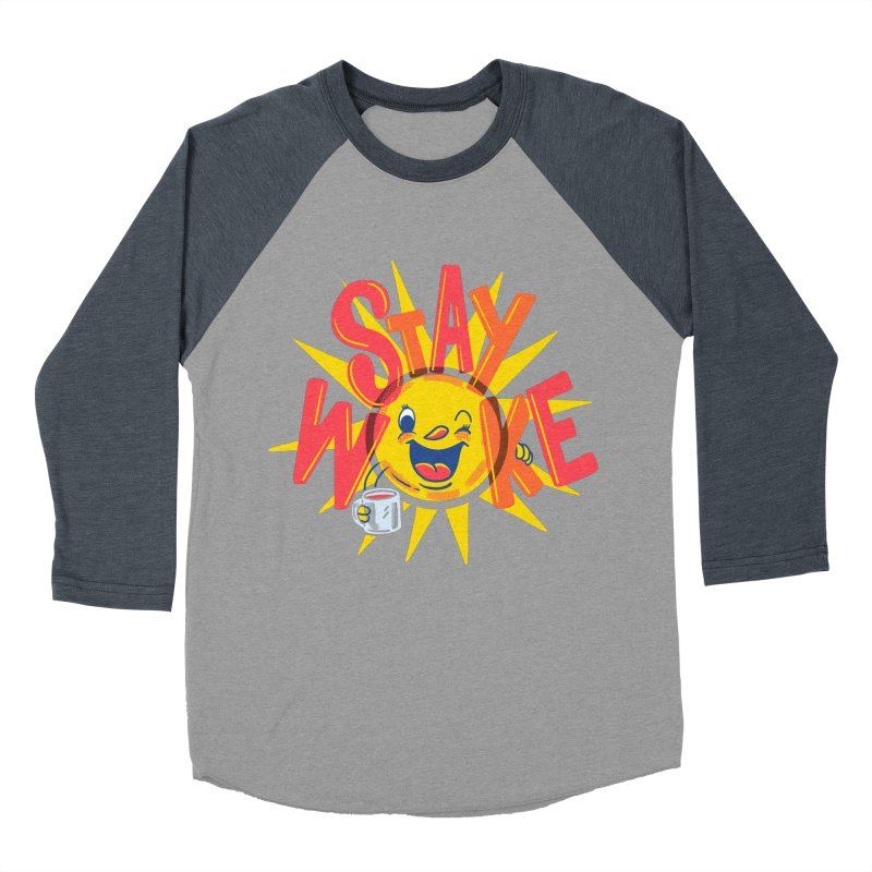 Stay Woke Men's Baseball Triblend Longsleeve T-Shirt by Ibyes