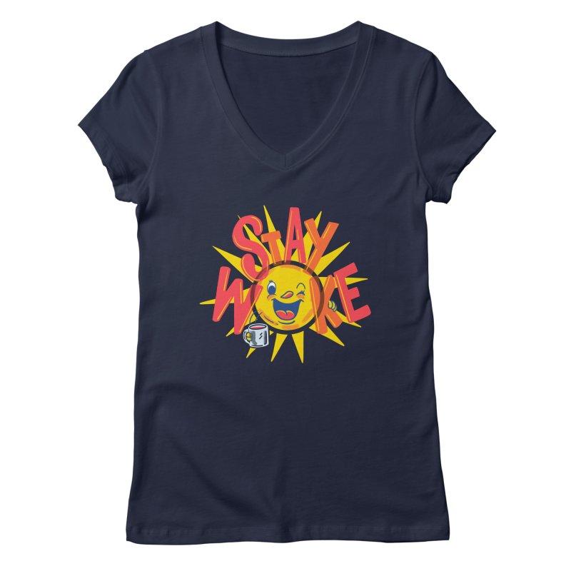 Stay Woke Women's Regular V-Neck by Ibyes