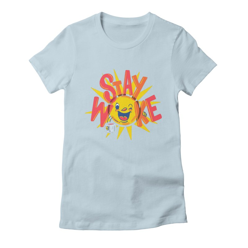 Stay Woke Women's Fitted T-Shirt by Ibyes